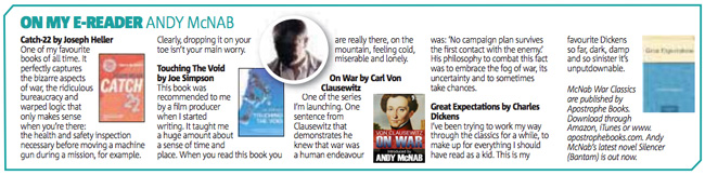 McNab War Classics: featured in the Metro