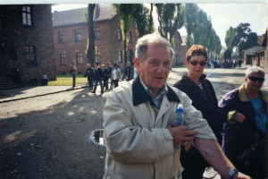Auschwitz, 2001. This is my number - B7608.