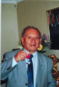 Receiving my MBE, 2009