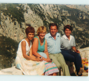 South of France, 1975. My wife, Jean, is on the right.