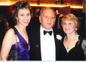 With Jean and daughter Michelle at a fund-raising ball in London.