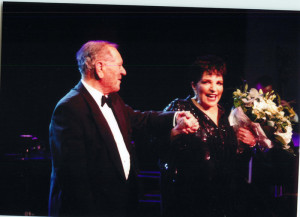 With Liza Minelli at a fund-raising ball in London